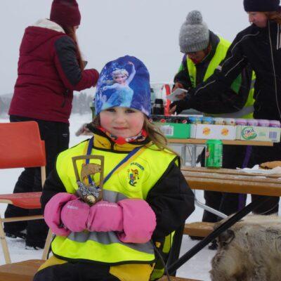 Segraren i barnklassen, Liv Markusson från Lycksele, var nöjd och glad över dagens insats