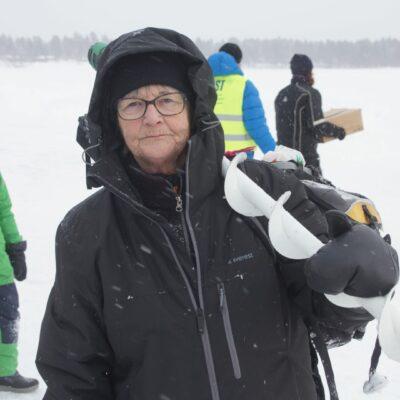 Ulla Britt Taflin, Umeå, blev dagens segrare i vuxenklassen med sina 3927 gram