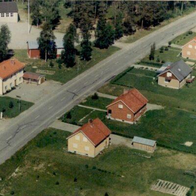 April 2019. En bild från luften över Örträsk centrum 1968.