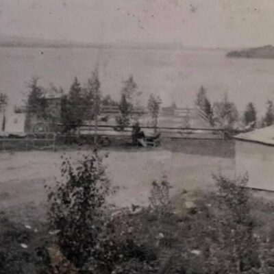 December 2020. Bild över Sjöviken, dansstället nere vid sjön. Bilden kommer från Ulla Thorén.