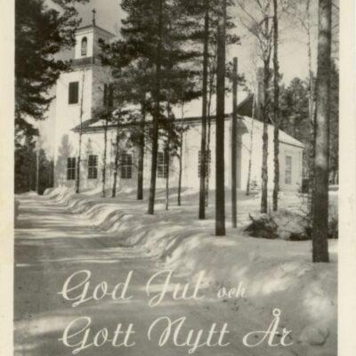 God Jul och Gott Nytt År Foto & Förlag: Sivert Westin, Drömme Poststämplat med 10-öres frimärke den 6/6 -55 Ägare: Karl-Evert Hällsten 10x15