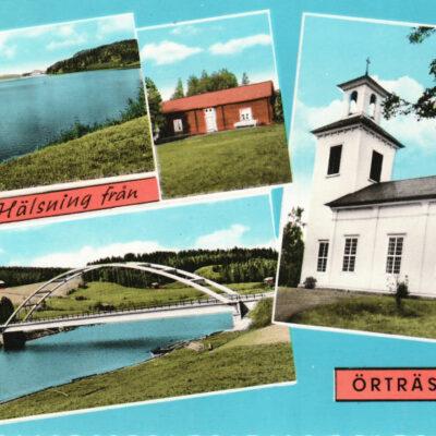 Hälsning från Örträsk Ocirkulerat Förlag: Sandströms kiosk, Örträsk Roland Hedbergs förlag, Sundsvall Ägare: Åke Runnman  10x15