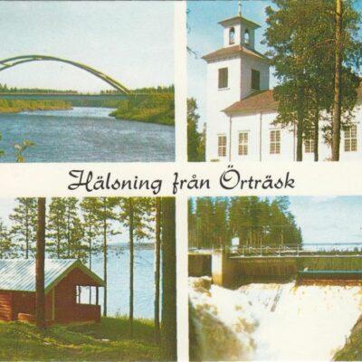 Hälsning från Örträsk Foto: Siri Löfgren, V:a Örträsk Poststämplat 10/9 1974 Ägare: Åke Runnman 10x15
