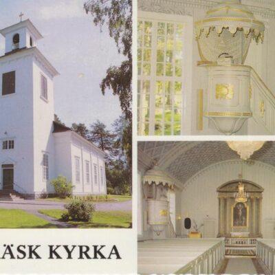 Örträsk kyrka, byggd åren 1845-1849 Förlag: Frösötornet. Foto: Karl-Johan Johansson Ocirkulerat Ägare: Åke Runnman 10x15