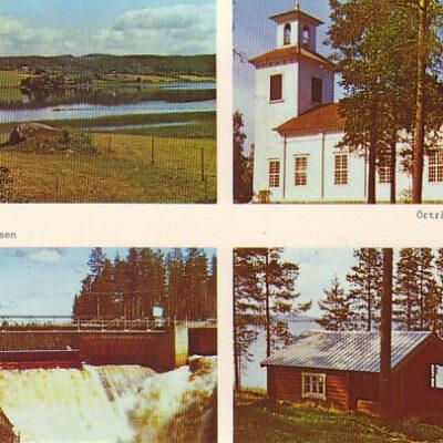 Örträsk, kyrkan, Storforsen, stugbyn Foto: Siri Löfgren, V:a Örträsk Ägare: Åke Runnman 10x15