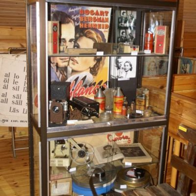 Här finns också bevarat maskinrummet från Centralbiografen i Örträsk med projektor och många detaljer.