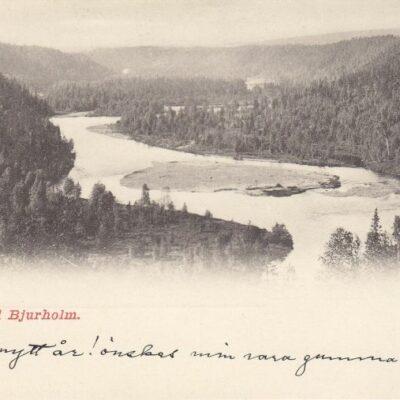Öre Elf vid Bjurholm Oscar E. Kulls Grafiska Anst., Malmö. 444Postat 1/1 1904Ägare: Åke Runnman9x14