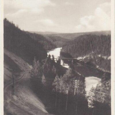 Bron över Öre älv vid Bjurholm Förlag: Anderssons Pappershandel Ocirkulerat Ägare: Åke Runnman 9x14