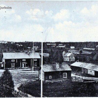 Parti af Bjurholm Förlag: Bjurholms Handels-A.-B.Poststämplat 26/1 1916Ägare: Åke Runnman9x14