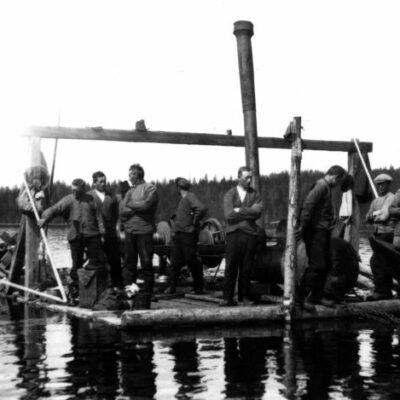 Spelflotte på Örträsket 1926 Källa: UFF 65.2.3