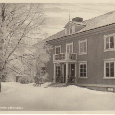 Lycksele. Kyrkoherdebostället Förlag: Gust. S Bodéns Bokhandel, Lycksele Poststämplat 23/2 1912 Ägare: Åke Runnman 9x14
