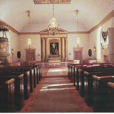 Lycksele kyrka Nya Tryckeriet, Lycksele 1992. Foto: B. O. FrickOcirkuleratÄgare: Åke Runnman10x15