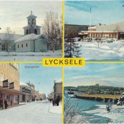 Lycksele, Lappland, Sweden Copyright: Grönlunds Foto, Skansholm Poststämplat 16/4 1987 Ägare: Åke Runnman 10x15
