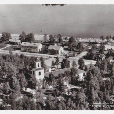 Lycksele kyrka. Flygfoto A/B Flygtrafik, Dals Långed 480/1958 Ocirkulerat Ägare: Åke Runnman 9x14