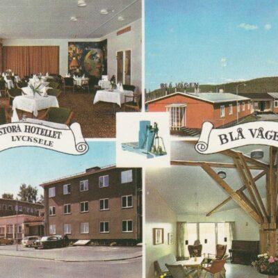 Stora hotellet, Blå vågen, Lycksele E. C. C. A/B Ocirkulerat Ägare: Åke Runnman 10x15