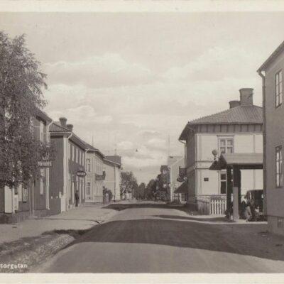 LYCKSELE Storgatan A.B. Alga, Stockholm Poststämpel oläslig Ägare: Åke Runnman  9x14