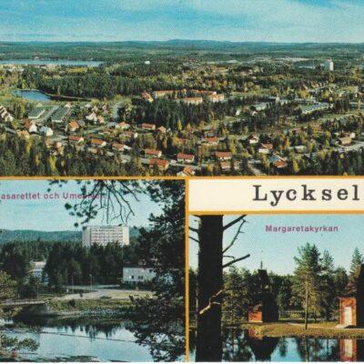 Lycksele Copyright: Grönlunds Foto. Skansholm Ocirkulerat Ägare: Åke Runnman 10x15