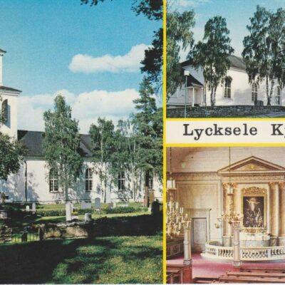 Lycksele kyrka, Lappland, Sweden Copyright: Grönlunds Foto, Skansholm Poststämplat 25/6 1974 Ägare: Åke Runnman 10x15