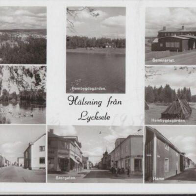 Hälsning från Lycksele Förlag: Missionsbokhandeln, Lycksele Ocirkulerat Ägare: Åke Runnman 9x14