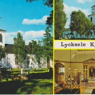 Lycksele Kyrka, Lappland, Sweden Kyrkan invigd 1799 Copyright: Grönlunds Foto, Skansholm, Vilhelmina Ocirkulerat Ägare: Åke Runnman 10x15
