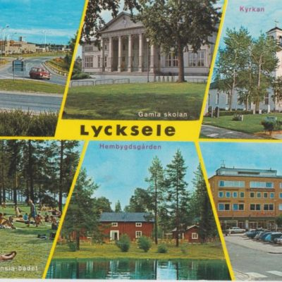 Lycksele, Lappland, Sweden Copyright: Grönlunds Foto. Skansholm Ocirkulerat Ägare: Åke Runnman 10x15