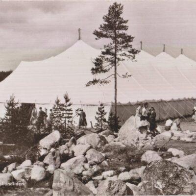 Mötestältet. Husbondliden Foto: Nina Lundberg, Lycksele Poststämplat 10/7 ???? Ägare: Ivar Söderlind 9x14