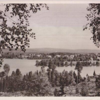 Vy över Fredrika Förlag: Forsgrens Pappershandel, Fredrika Poststämplat 7/7 1943 Ägare: Åke Runnman 9x14
