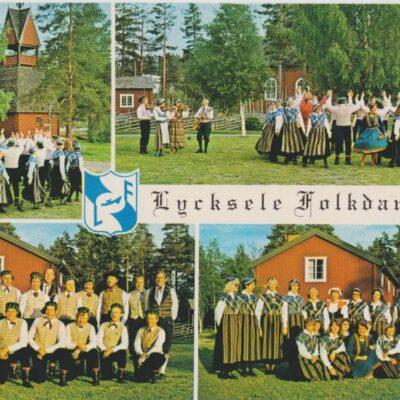 Lycksele folkdanslag Copyright: Grönlunds Foto, Skansholm, Vilhelmina Ocirkulerat Ägare: Ivar Söderlind 10x15
