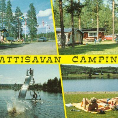 Kattisavan Camping, Lycksele Copyright: Grönlunds Foto, Skansholm, Vilhelmina Poststämplat 22/2 2010 Ägare: Ivar Söderlind 10x15