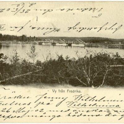Vy från Fredrika Poststämplat 25/5 1902 Ägare: Åke Runnman