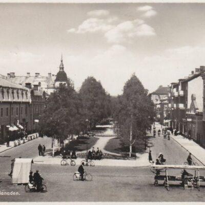 Umeå. Rådhusesplanaden Svenska Pressbyrån Postat: 2/5 1944 Ägare: Ivar Söderlind 9x14
