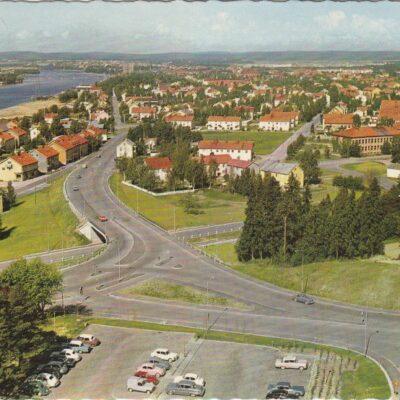Umeå. Umeälven Copyright: Sven Hörnell, Riksgränsen, SwedenPoststämplat 8/7 1969Ägare: Åke Runnman10x15