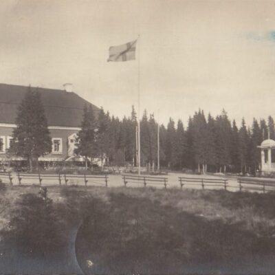 Umeå. Gamlia Förlag: Hjortsbergs Pappershandel. Umeå Poststämplat 25/7 1929 Ägare: Ivar Söderlind 9x14