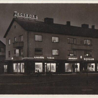 TEG Pressbyrån Poststämplat 10/2 1952 Ägare: Ivar Söderlind 9x14