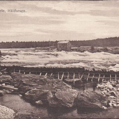 Lycksele, Hällforsen Förlag Gunnar Grahn - Foto. J. E. Nahlin Ocirkulerat Ägare: Åke Runnman 9x14