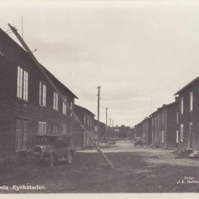 Lycksele, gamla kyrkstaden Foto: J. E. Nahlin Förlag: Lycksele Cig. & Pappershandel Ocirkulerat Ägare: Åke Runnman 9x14