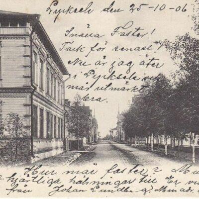 Lycksele Foto: I. A. Harnesk Poststämplat 25/10 1906 Ägare: Åke Runnman 9x14