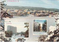 Lycksele, utsikt från Korpberget Lappland, Sweden Copyright: Herman Grönlund, Skansholm Ocirkulerat Ägare: Åke Runnman 10x15