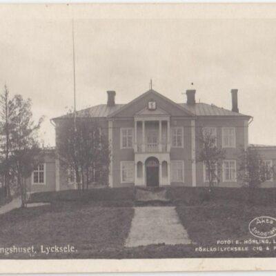 Tingshuset. Lycksele Foto: E. Hörling, Lycksele Ocirkulerat Ägare: Åke Runnman9x14