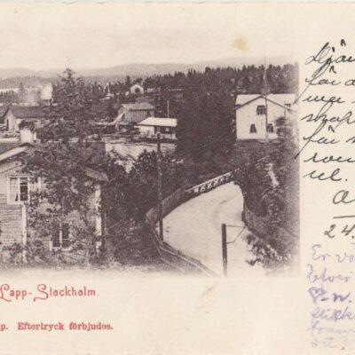 Vy från Lapp-Stockholm A & C Imp. Poststämplat 24/1 1902 Ägare: Åke Runnman 9x14