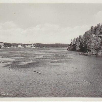 LYCKSELE. Motiv från älven Pressbyrån 60448 Poststämplat 6/3 1953 Ägare: Åke Runnman 9x14