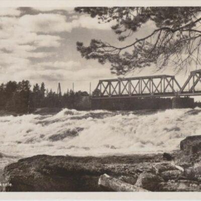 Hällforsen. Lycksele Foto: Nina Lundberg, Lycksele Poststämplat 5/7 1958 Ägare: Åke Runnman 9x14