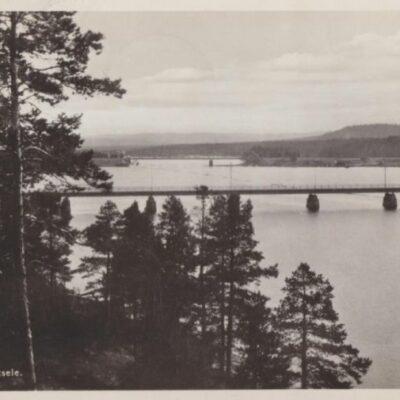 Ume älv. Lycksele Förlag: Gust. S. Bodéns Bokhandel, Lycksele Poststämplat 27/5 1936 Ägare: Åke Runnman 9x14