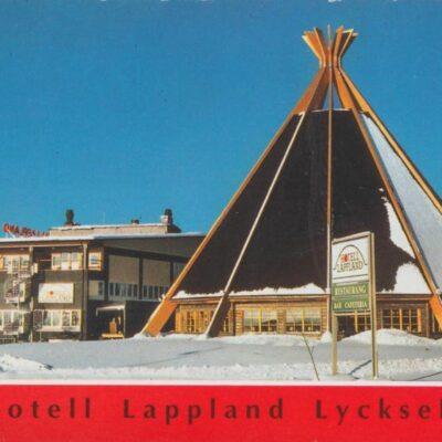 Hotell Lappland i Lycksele Copyright: Grönlunds Foto, Skansholm, Vilhelmina Poststämplat 2/2 1991 Ägare: Åke Runnman 10x15
