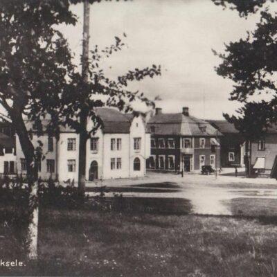 Parti av Lycksele Gust. S. Bodéns Bokhandel, Lycksele Import 11 sept 1929 Ägare: Åke Runnman 9x14