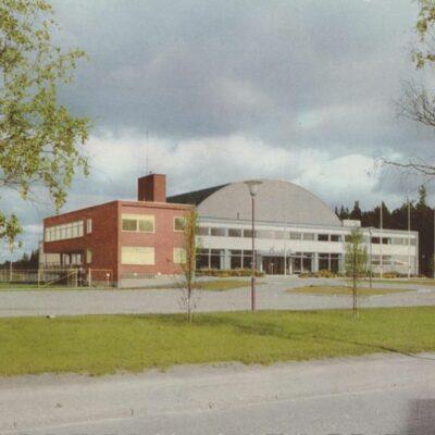Umeå. Sporthallen Pressbyrån Poststämplat 1961-09-07 Ägare: Ivar Söderlind 10x15
