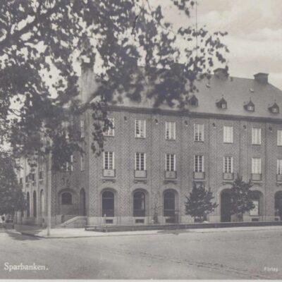 Umeå. Sparbanken Förlag: Åkerbloms Bokhandel 24616 Poststämpel oläslig Ägare: Ivar Söderlind 9x14