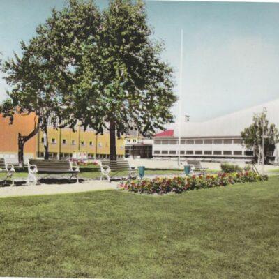 Lycksele. Medborgarhuset Förlag: Lycksele Pappershandel, Lycksele Poststämplat 1965-07-03 Ägare: Åke Runnman 10x15