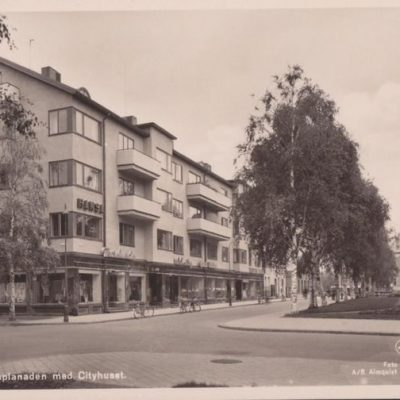 Umeå. Rådhusesplanaden med Cityhuset Förlag: Hjortsbergs Pappershandel Umeå Ocirkulerat Ägare: Ivar Söderlind 9x14