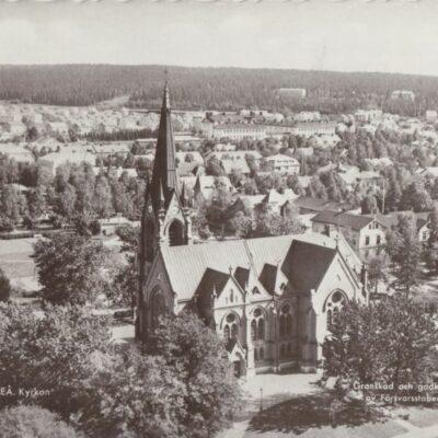 UMEÅ. Kyrkan Pressbyrån 22231 Poststämplat 1960-08-19 Ägare: Åke Runnman 10x15